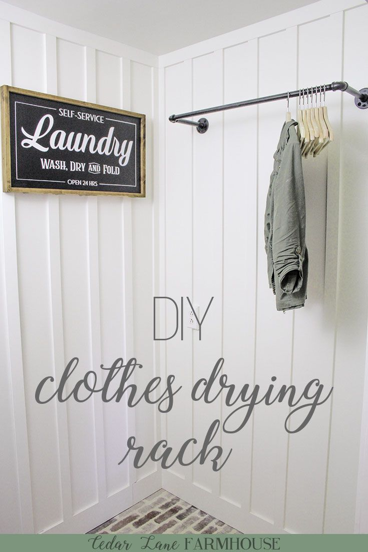 DIY Galvanized Pipe Clothes Drying Rack | This pipe clothes drying rack is an in...