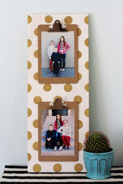 DIY Polka Dot Clipboard Sign. This is so easy and fun to make and makes a unique...