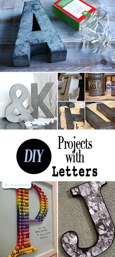 DIY Projects with Letters • Tutorials for using letters and words to decorate ...