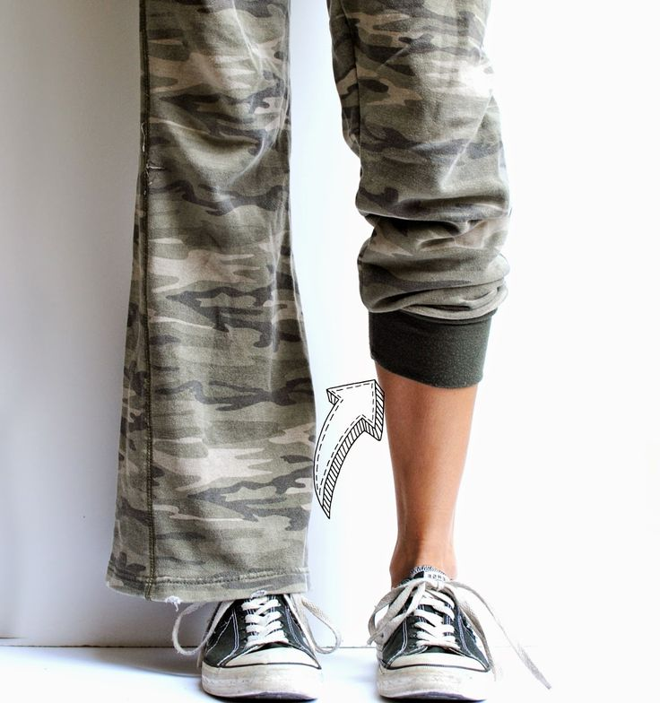 DIY Refashioned Pants -- I have a few pairs that could use this! ❤️