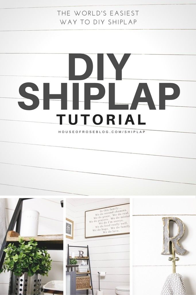 DIY SHIPLAP TUTORIAL | HOW TO DIY A WHITE WOOD WALL | EASY AND INEXPENSIVE