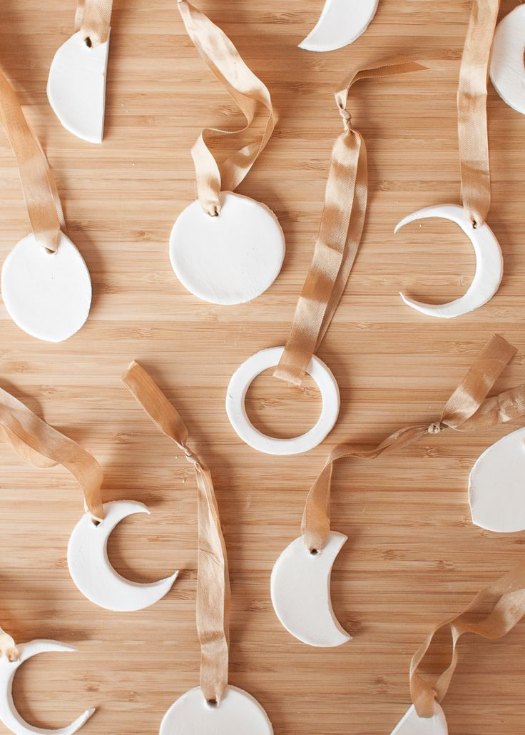DIY These Clay Moon Ornaments to Make Your Tree Feel Magical • Sara Laughed