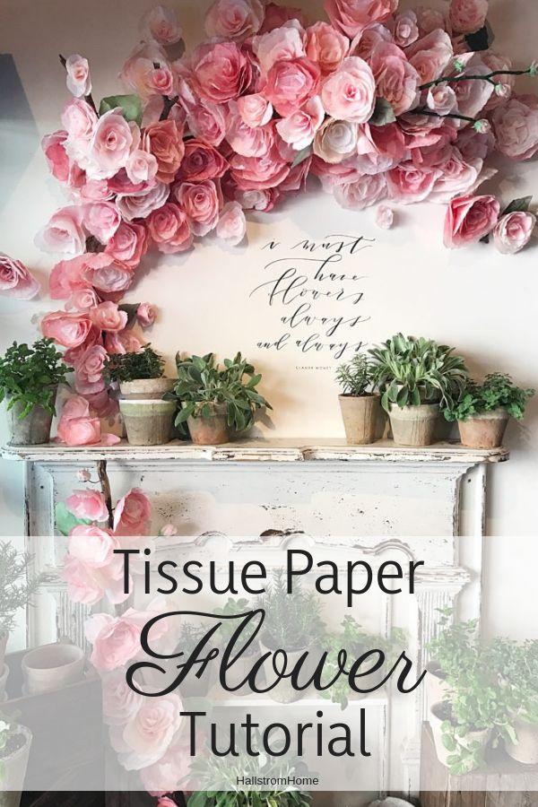 Diy Crafts Diy Tissue Paper Flowers Tutorialcraftdiytissue