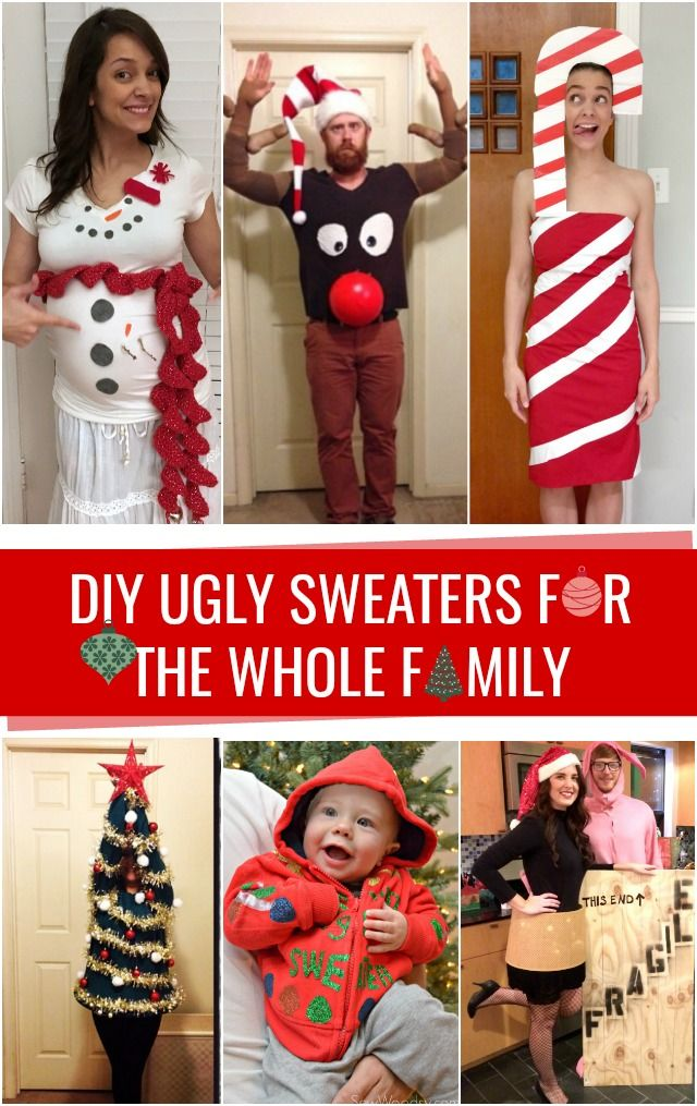 DIY Ugly Sweaters for the whole family