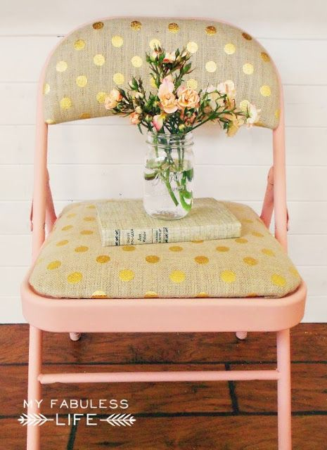 DIY ~ cute upcycled folding chair.