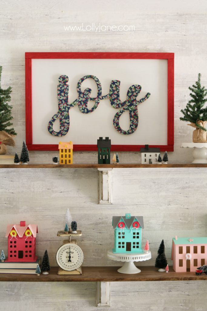 DIY wood cutout sign tutorial. Learn how to cover a wood cutout with paper the p...