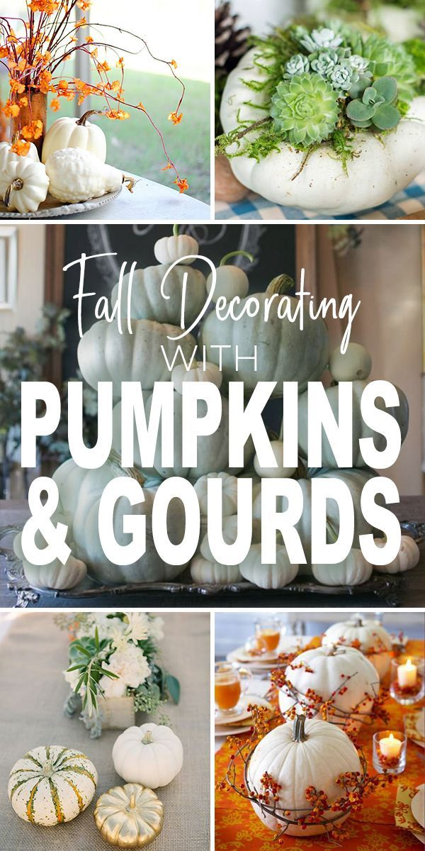 DIY Crafts : Fall Decorating with Pumpkins and Gourds ...