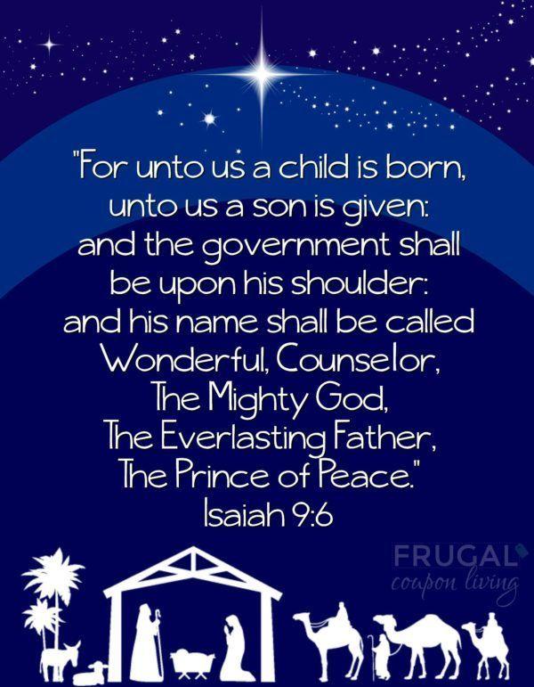 Free Isaiah 9:6 Printable