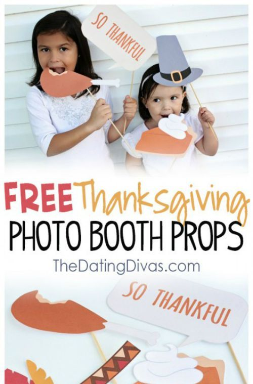 Free Thanksgiving Printables including Thanksgiving Photo Props. #Thanksgiving #...