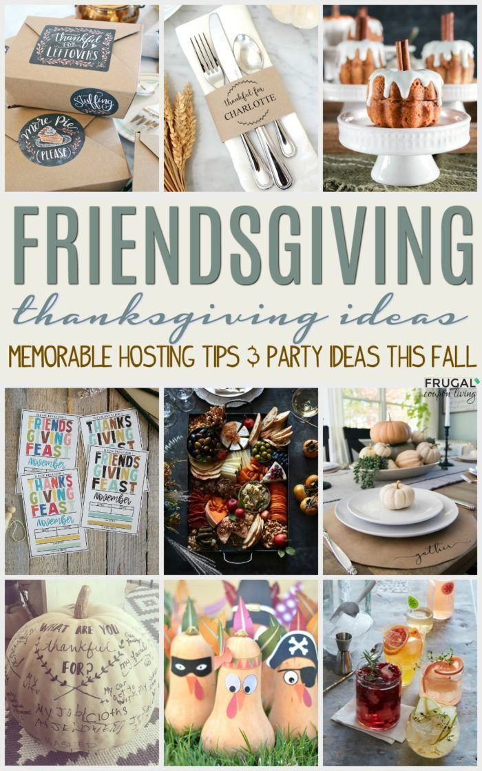 Friends-giving Thanksgiving Ideas - cute ways to have fun with your friends this...