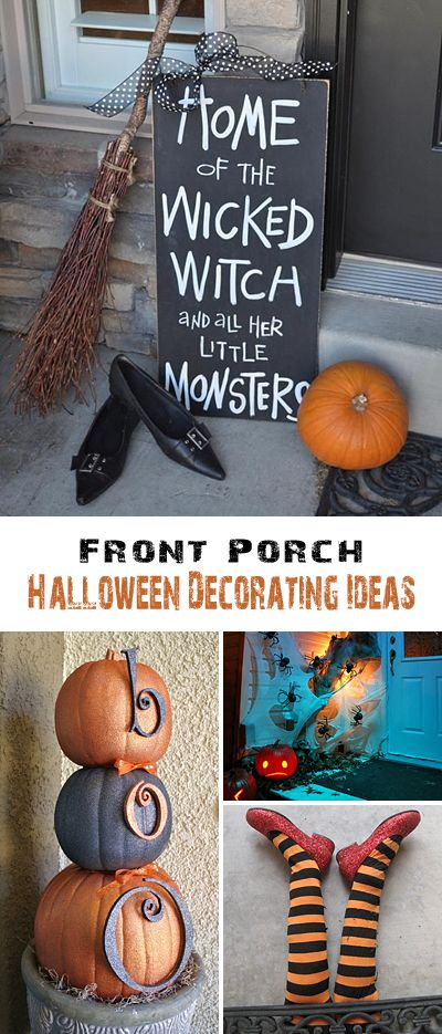 Front Porch Halloween Decorating Ideas • Lots of DIY projects, tutorials and I...