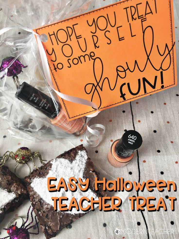 Halloween Gift for Teachers | Grab this easy Halloween gift idea for teachers pl...