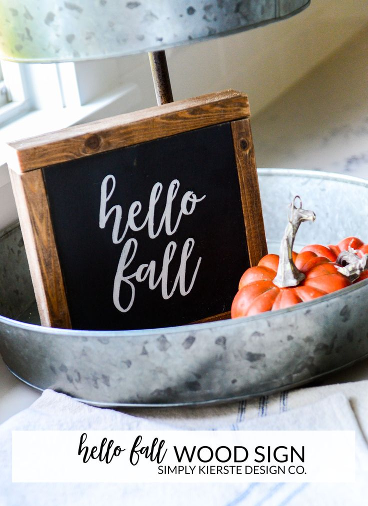 Hello Fall Wood Sign   Perfect for a shelf, counter, table or window! simplykier...