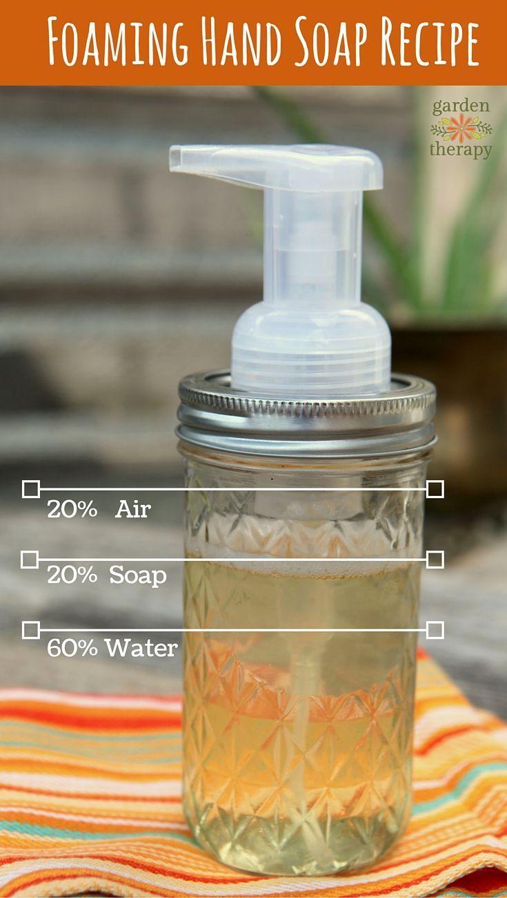 Homemade Foaming Hand Soap Recipe + a DIY Mason Jar Soap Dispenser -All-natural ...