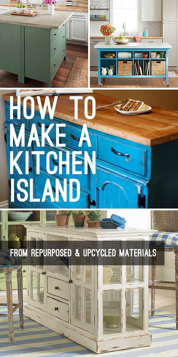 Diy Crafts How To Make A Kitchen Island From Repurposed And