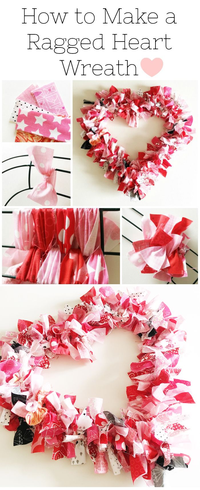 Diy Crafts How To Make A Valentine S Heart Fabric Rag Wreath A