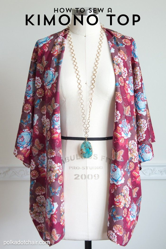 How to sew a cute Kimono Jacket, a sewing pattern and DIY fashion tutorial - by ...