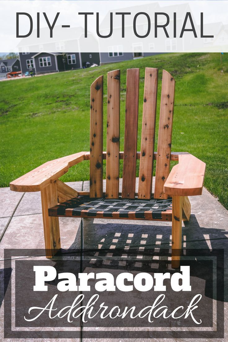 I put a twist on the classic Adirondack Chair with this version, including a par...