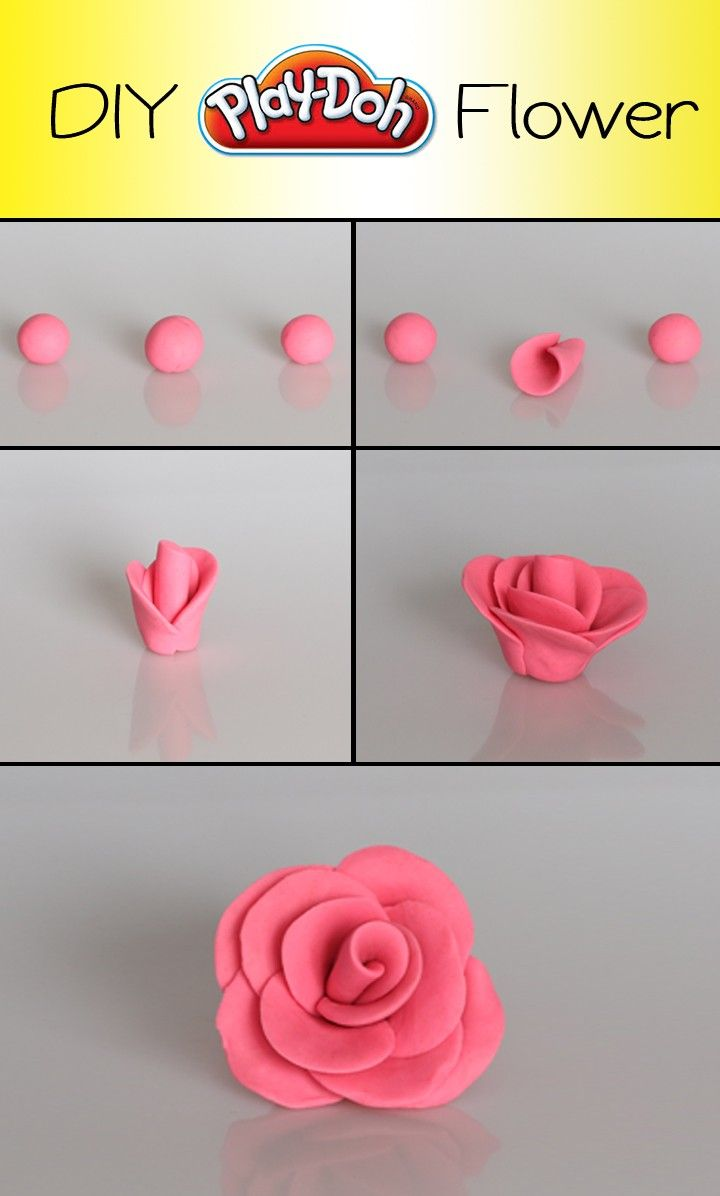 It's easy to create a DIY Play-Doh Flower
