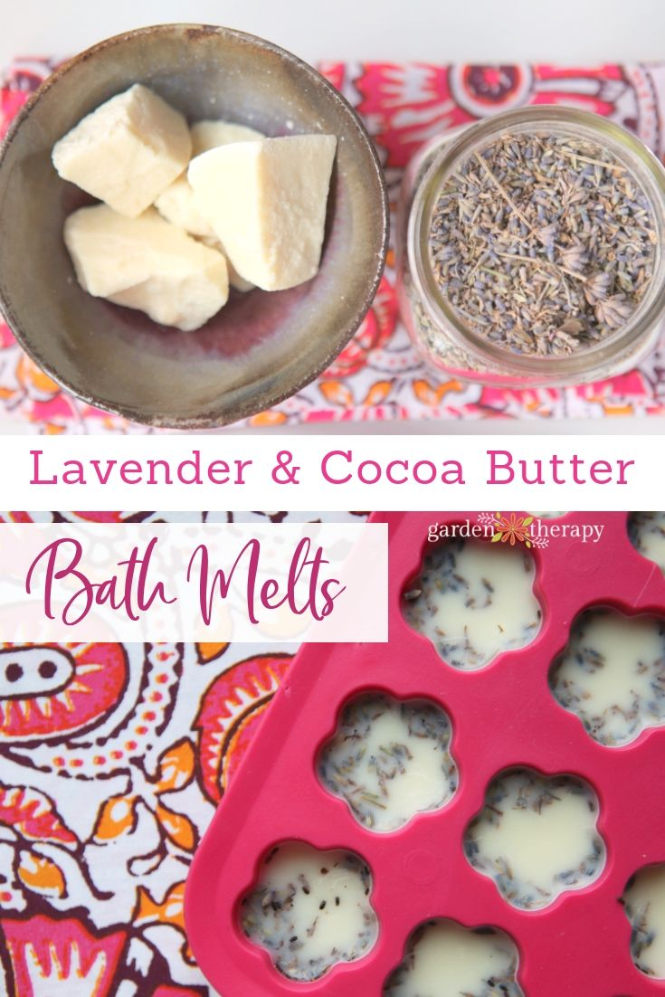 Lavender and Cocoa Butter Bath Melts. The aroma of cocoa, coconut, and lavender ...