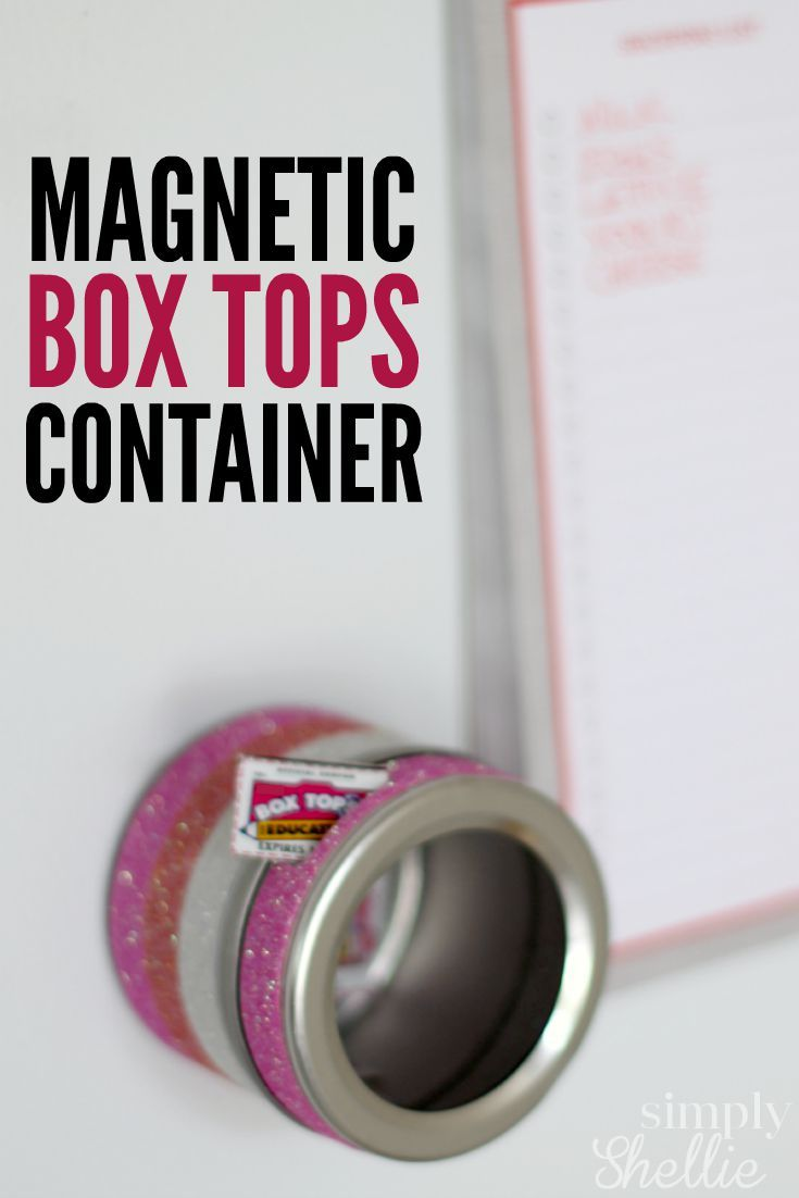 Magnetic Box Tops Container