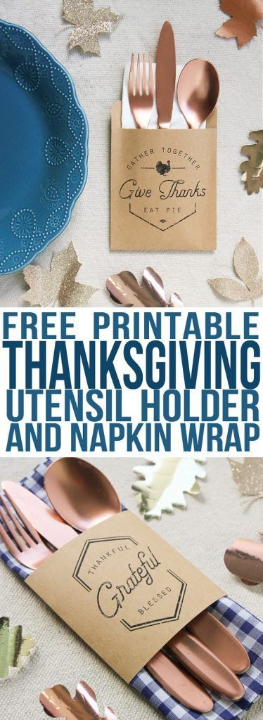 Make these easy utensil pouches to use as Thanksgiving decorations at your table...