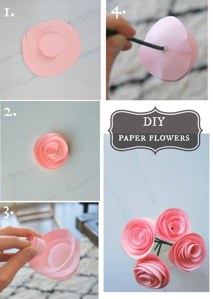 Diy Crafts Make These Super Pretty Diy Paper Flowers With Some
