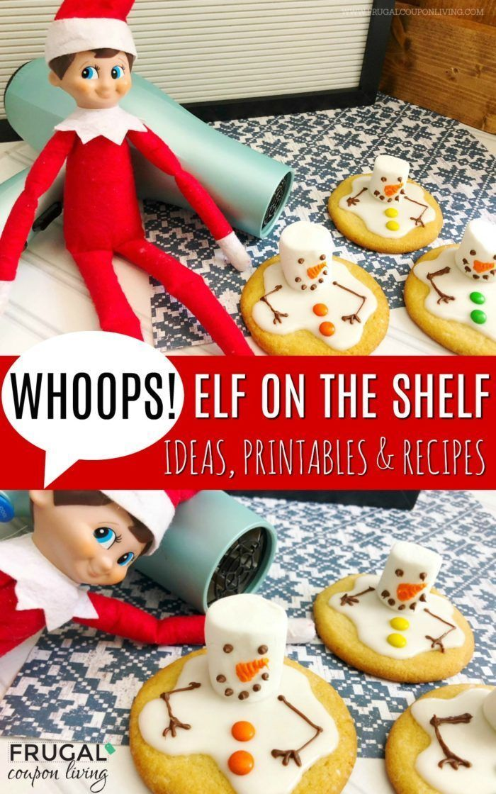 Melted Snowman Cookies   Elf on the Shelf Ideas   Cookies for Santa #FrugalCoupo...