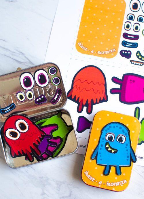 Diy Crafts Monster Travel Case For Kids Upcycled Altoids Tin