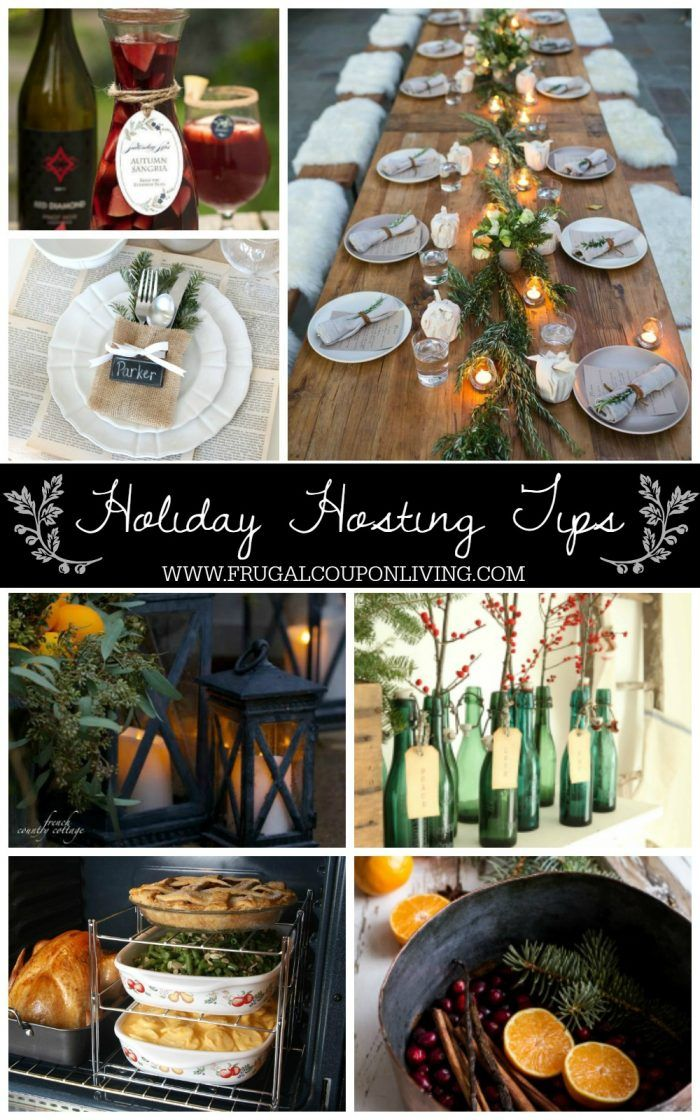Party and Hosting Tips for the Holidays. Christmas Hosting Ideas. Thanksgiving P...
