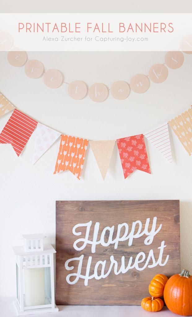 Print out this banner for your home decorations. Fun Thanksgiving decorations. w...