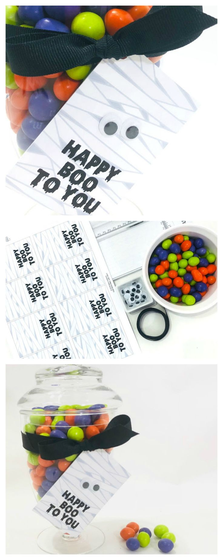 Printable Happy Boo To You Mummy Tags | Attach to a treat for a fun Halloween gi...