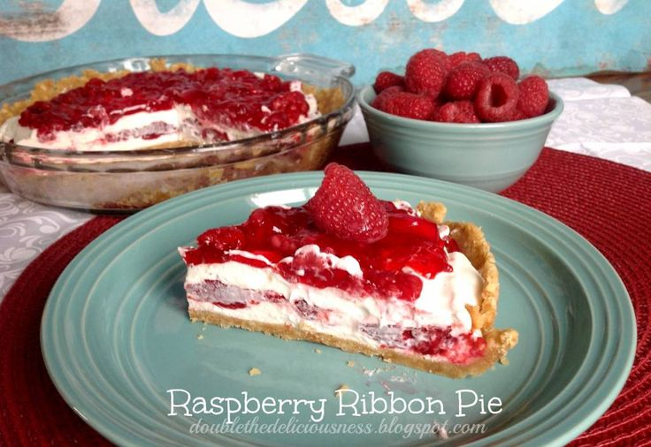 Raspberry ribbon pie has always been one of the favorites, and is always one of ...