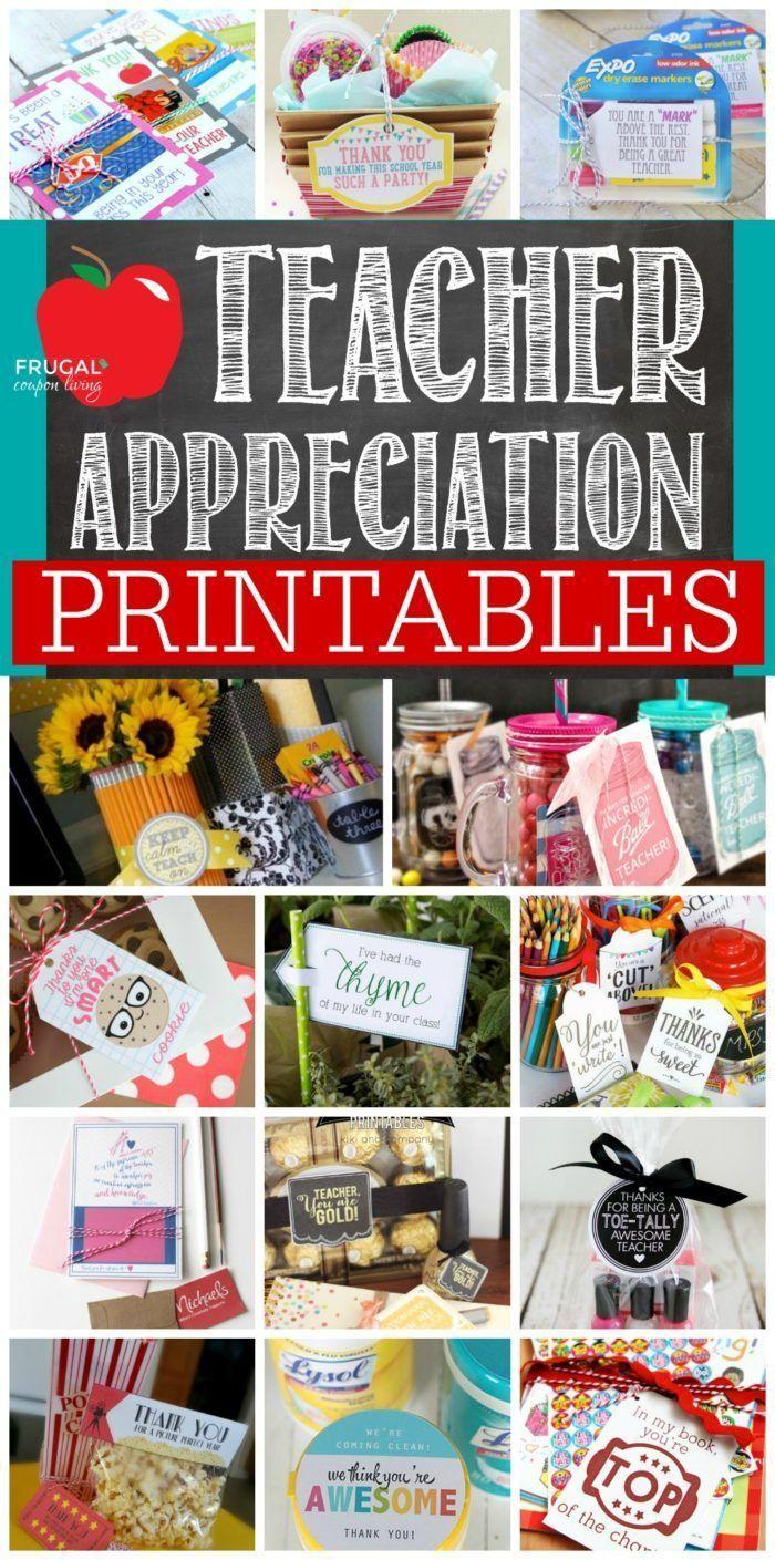 Teacher Appreciation Printables. Teacher Gift Ideas for Every Season. Teacher Gi...