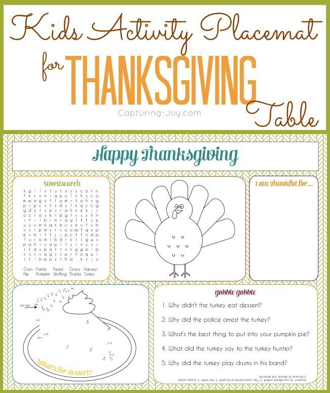 Thanksgiving Activity for kids! This fun fall activity sheet is perfect for your...