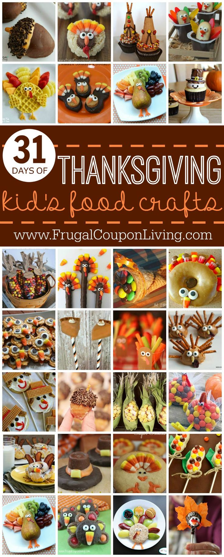Thanksgiving Kids Food Crafts | Thanksgiving Recipes for Kids | Kids Recipes for...