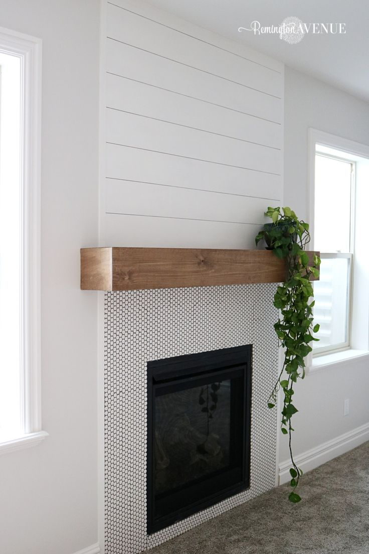 The easiest DIY wood mantel ever! I'm not a pro, but this mantel looks so go...