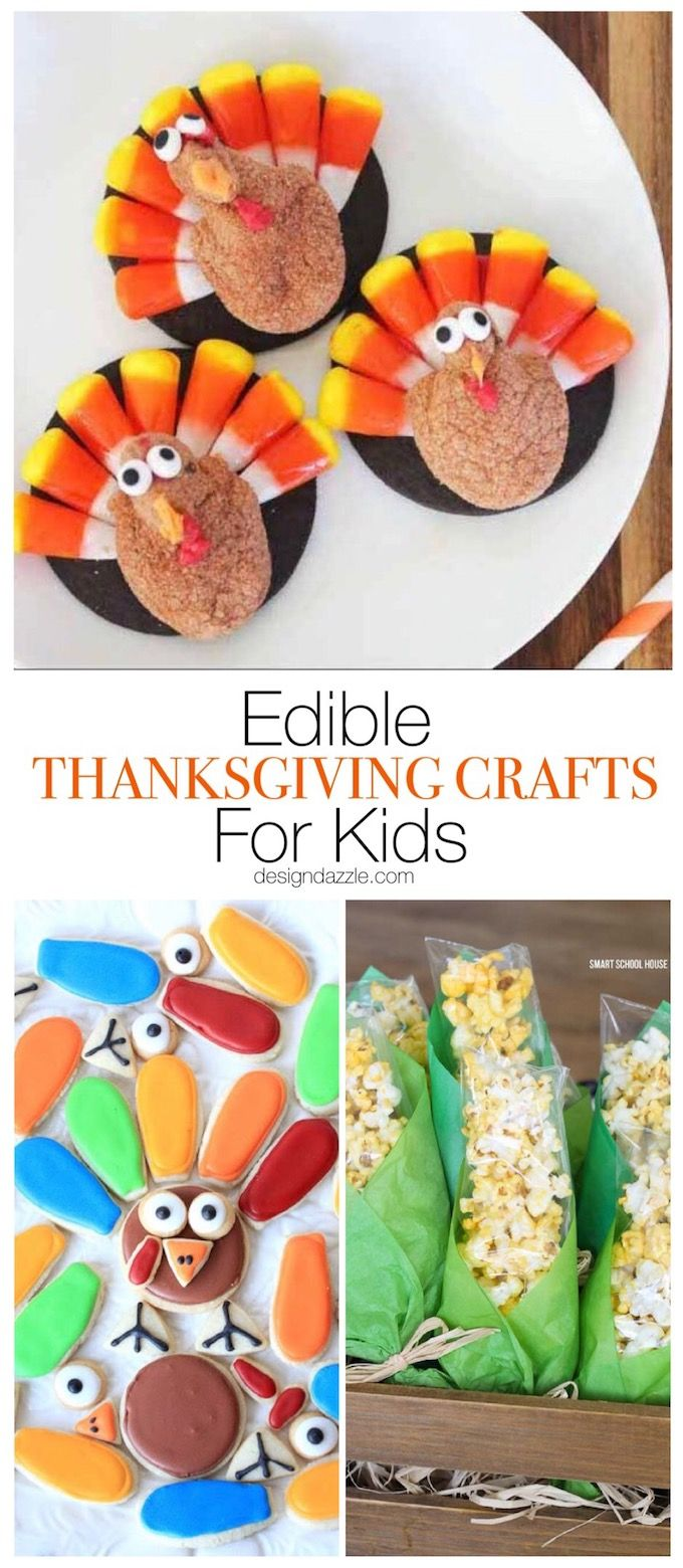 These 17 edible Thanksgiving crafts for kids are the perfect way to keep your ki...