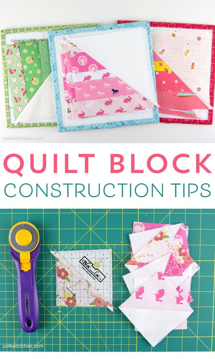 Tips and tricks to help you when you're constructing quilt blocks. Things li...