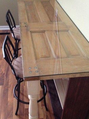 diy old door projects   Desk DIY: Recycle old door into new desk - Handy Father ...