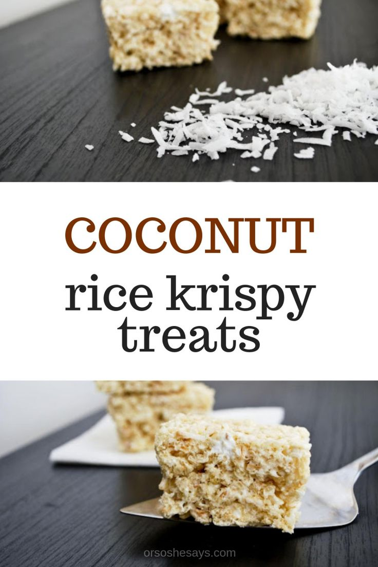 these coconut rice krispy treats are winners. The toasted coconut adds that awes...