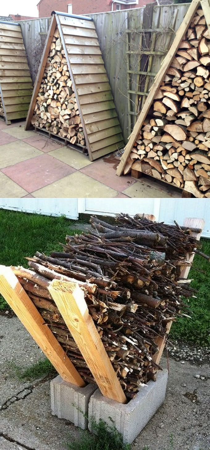 15 firewood storage and creative firewood rack ideas for indoors and outdoors. L...