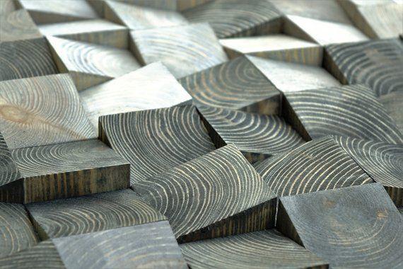 Diy Furniture 3d Wood Wall Art Mosaic Wall Hanging Wood Block Wall