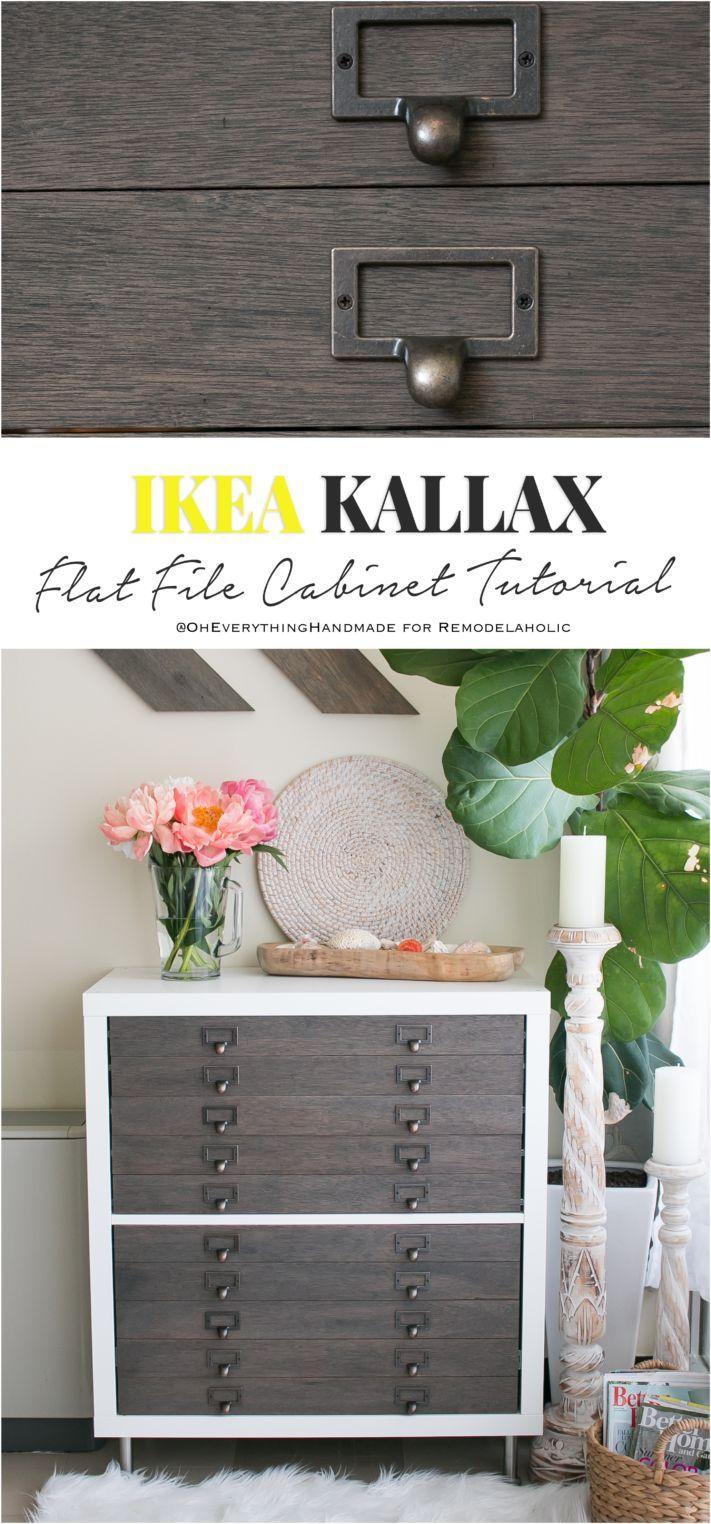 Diy Furniture Amazing Ikea Kallax Flat File Cabinet Hack Ikea
