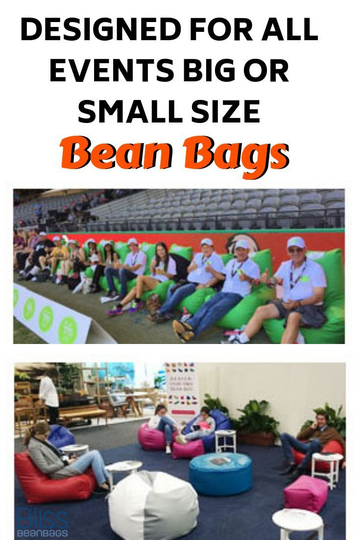 BLISS BEAN BAGS DESIGNED FOR ALL EVENTS BIG OR SMALL SIZE! #beanbags #loungechai...