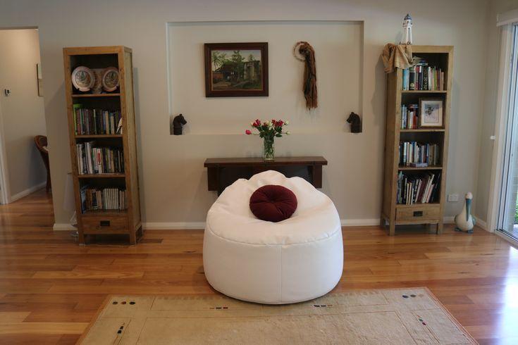 Circular lounger bean bag for living room