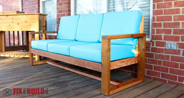DIY Outdoor Modern Sofa