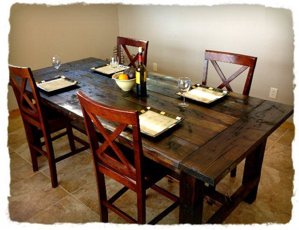 Distressed Farm Table Project | Free Plans