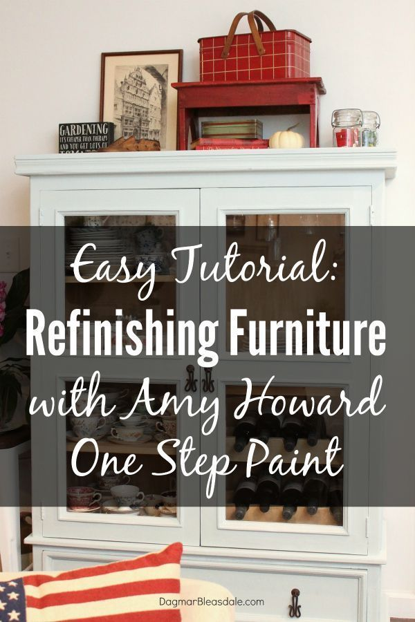 Refinishing Furniture With Amy Howard Chalk Paint - An Easy Tutorial. Update any...