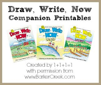 Draw, Write, Now Printables